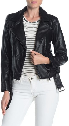 Elodie K Faux Leather Moto Jacket
