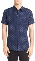 Imperial Motion Men's 'Doubles' Print Short Sleeve Woven Shirt