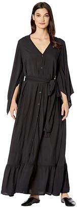 Hard Tail Kimono Dress (Raven) Women's Clothing