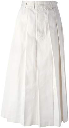 Comme des Garcons Pre-Owned long pleated skirt