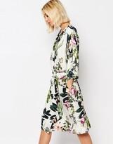 Gestuz Kimono Dress in Floral Print