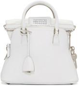 Maison Margiela White Grained Leather Bag