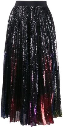 MSGM Tulle Glitter Midi Skirt