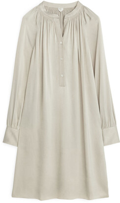 Arket Long-Sleeved Satin Dress