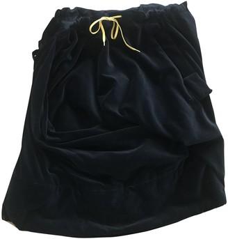 Bernhard Willhelm Black Velvet Skirt for Women