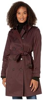 Lauren Ralph Lauren Year Round Rain Trench Coat (Cranberry) Women's Coat
