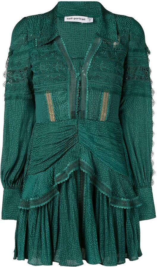 Self-Portrait long-sleeve shift dress