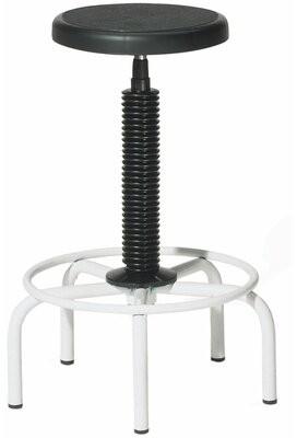 Williston Forge Twyman Height Adjustable Lab Stool with Plastic Seat