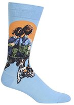 Hot Sox Men's Little Spooners Crew Sock