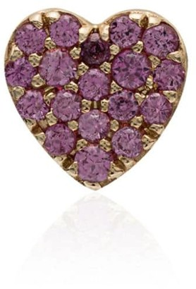 Loquet Pink And Gold Sapphire Heart Earring