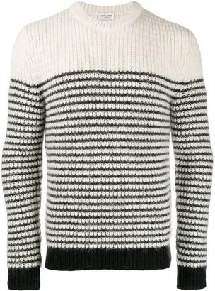 Saint Laurent Chunky Knit Striped Jumper