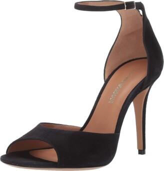 Emporio Armani Women's Suede Ankle Strap Pump