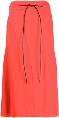 Victoria Beckham tied-waist A-line skirt