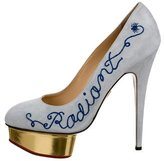 Charlotte Olympia Suede Platform Pumps w/ Tags