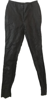 CNC Costume National Black Cotton Trousers for Women