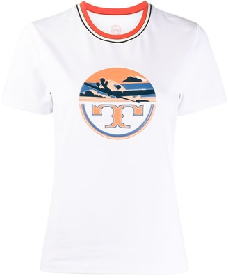 Tory Burch Aviation print short-sleeve T-shirt