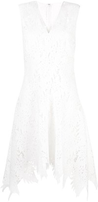 Josie Natori Palm lace sleeveless dress