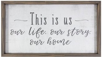 "Rustic ""Our Life. Our Story. Our Home."" Wall Decor"