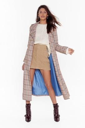 Nasty Gal Womens One More Skirt Corduroy Mini Skirt - brown - 10