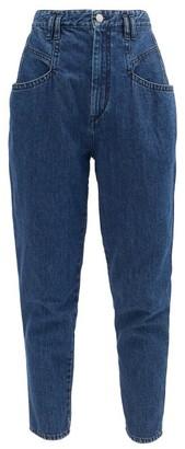 Isabel Marant Padeloisasr High-rise Tapered-leg Jeans - Navy