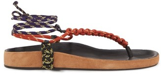 Isabel Marant Loreco Rope Sandals - Tan Multi