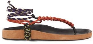 Isabel Marant Loreco Rope Sandals - Womens - Tan Multi