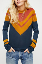 Free People Stripes Crew Sweater