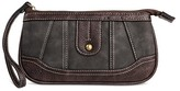 Bolo Women's Faux Leather Wallet with Back/Interior Compartments and Zipper Closure - Black/Chocolate