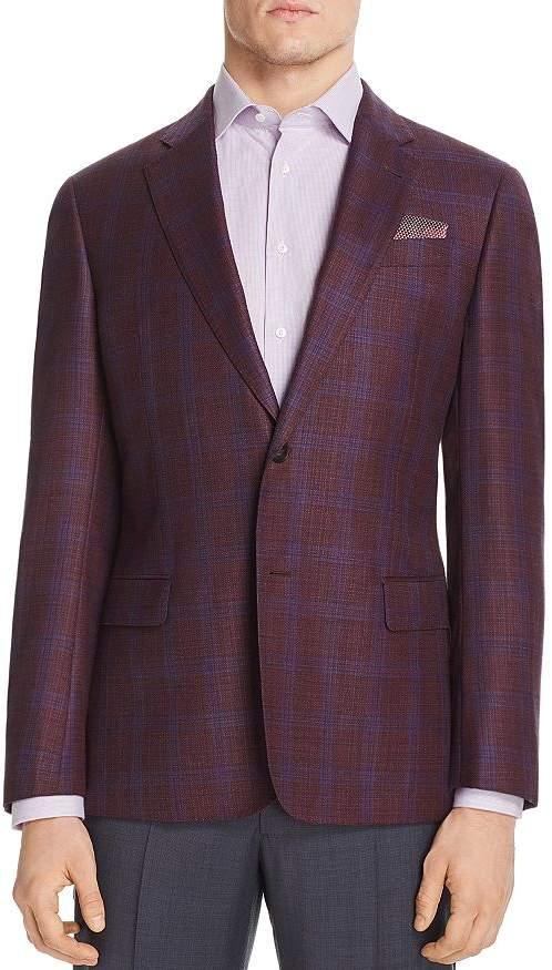 Giorgio Armani Checked Regular Fit Tailored Jacket