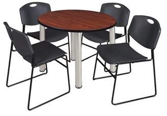 Symple Stuff Leiser Round Table with 4 Zeng Chairs Symple Stuff