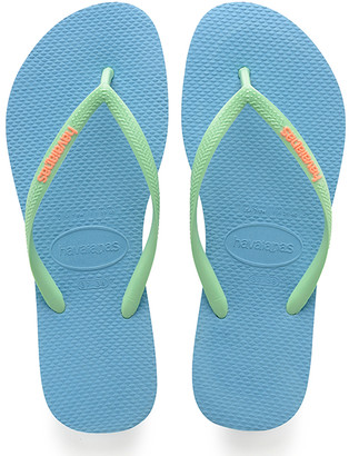 Havaianas Women's Flip-Flops - Blue Splash Pop Up Slim Flip-Flop - Women