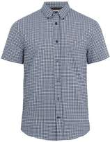 Acne Studios Isherwood short-sleeved checked cotton shirt
