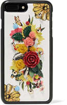 Dolce & Gabbana Embellished Printed Textured-leather Iphone 7 Plus Case - Yellow