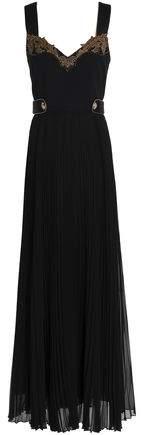 Roberto Cavalli Embellished Crepe Maxi Dress