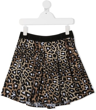 Msgm Kids TEEN leopard-print shorts
