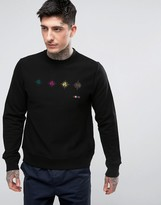 Paul Smith Crew Sweatshirt Target Print In Black