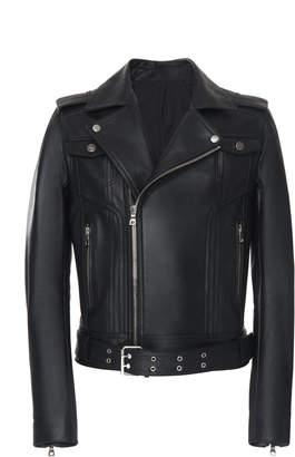Balmain Fringe Leather Motorcycle Jacket