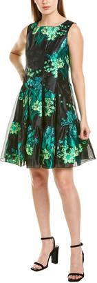 Anna Sui Kismet Silk-Trim A-Line Dress