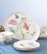 Lenox Butterfly Meadow Floral Porcelain 12-Piece China Set