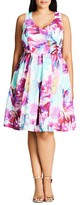 City Chic Bright Bouquet Floral Dress