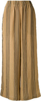 Uma Wang - striped flared trousers - women - Viscose - M