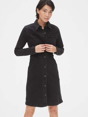 Gap Denim Western Button-Front Shirtdress