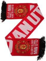 Manchester United FC Official Knitted Glory Glory Football Crest Scarf