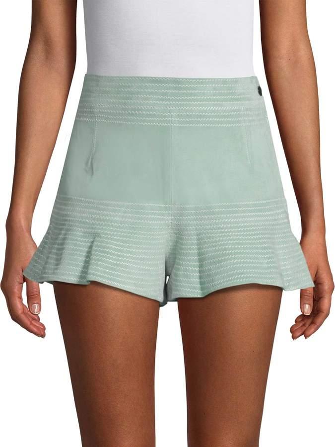 Alexis Women's Ruffled Suede Shorts