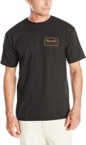Brixton Men's Grade Standard Fit T-Shirt, Black/Gold