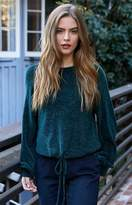 La Hearts Chenille Tie Front Pullover Sweater