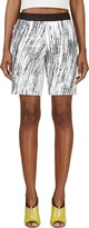 Kenzo White and Grey Sequined High Waves Shorts