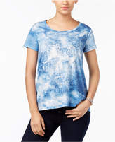 Style&Co. Style & Co Embellished Tie-Dyed T-Shirt, Created for Macy's