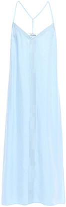 Frame Embroidered Washed Cupro-blend Midi Slip Dress