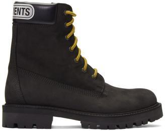 Vetements Black Trucker Boots